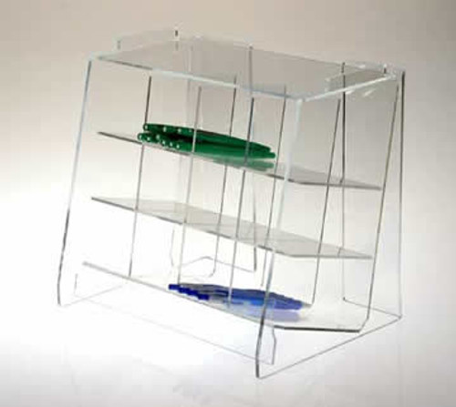 clear acrylic horizontal pen holder