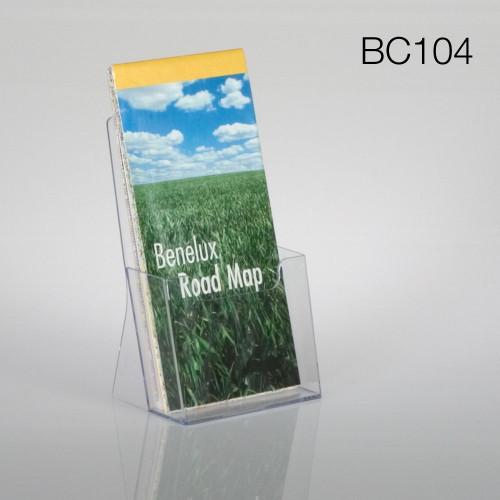 clear tri-fold countertop brochure holder