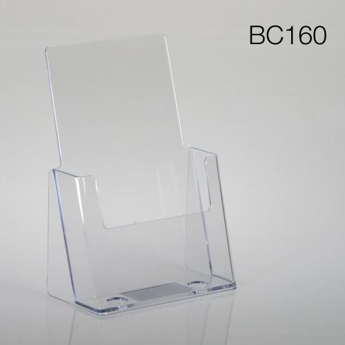 clear half-sheet countertop brochure holder