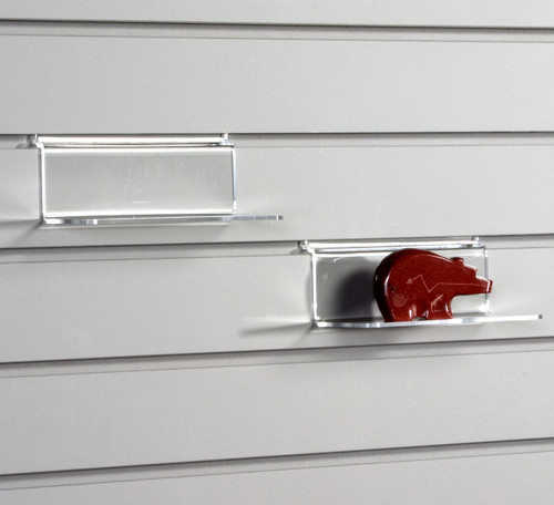 """Small retail display shelf 6"""" x 3"""" with no lip for slatwall."""