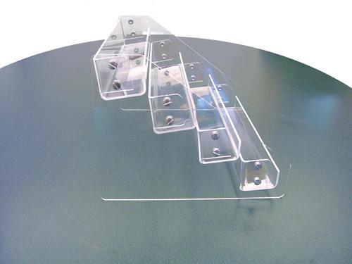 "Back Aisle Special 12.5"" wide clear acrylic countertop mini shelf"