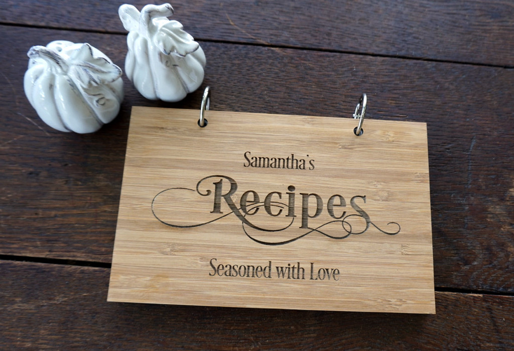 Personalized recipe book by TheCuttingBoardShop