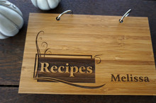 Custom blank recipe book by TheCuttingBoardShop