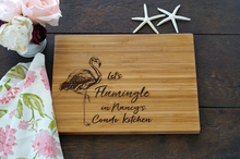 Let's Flamingle cutting board by TheCuttingBoardShop