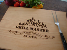 Grill Master cutting board by TheCuttingBoardShop