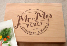 Mr and Mrs cutting board by TheCuttingBoardShop