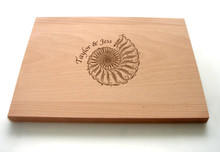 Personalized shell cutting board from TheCuttingBoardShop