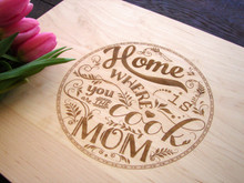 Mom Cook cutting board by TheCuttingBoardShop