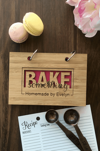 Bake something Recipe Book by TheCuttingBoardShop
