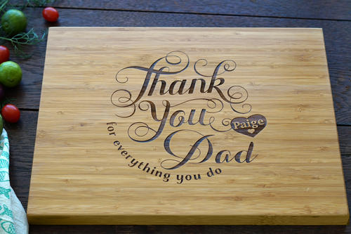 Thank you Dad cutting board by TheCuttingBoardShop