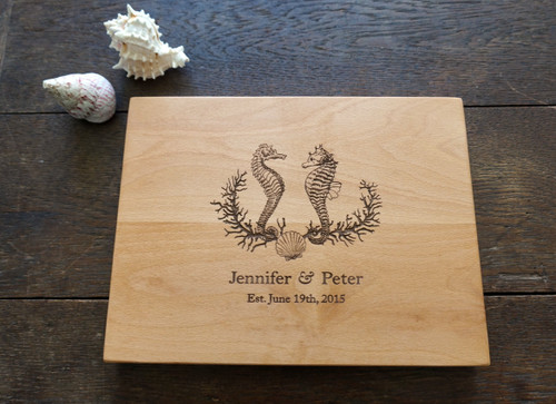 Seahorse custom cutting board by TheCuttingBoardShop