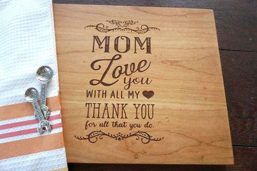 Mom Love you cutting board by TheCuttingBoardShop