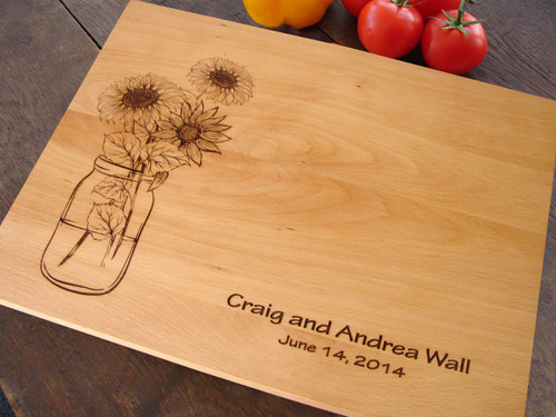 Sunflower cutting board by TheCuttingBoardShop