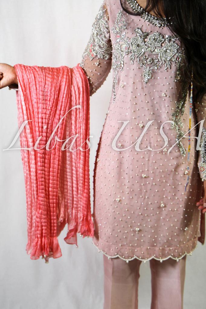 Bisma Kayani Pink Powder Dress