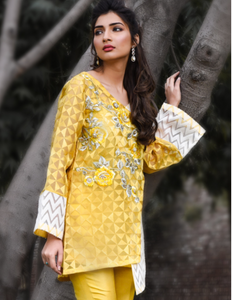 Farah and Fatima Luxury Pret Yellow