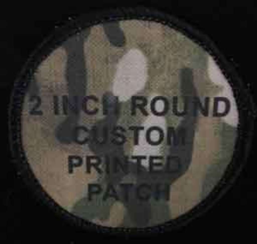 Printed Custom 2 inch round patches