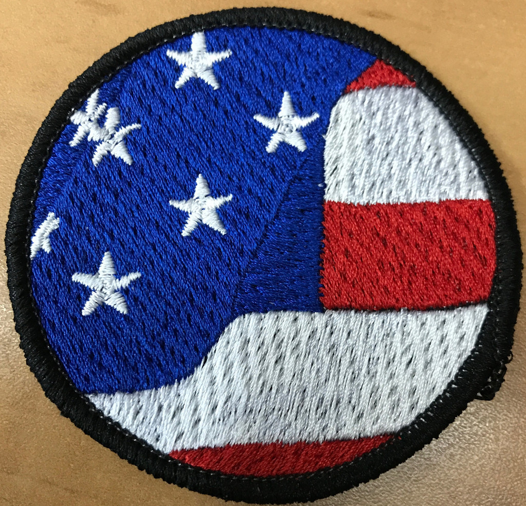 Waving American Flag Morale Patch