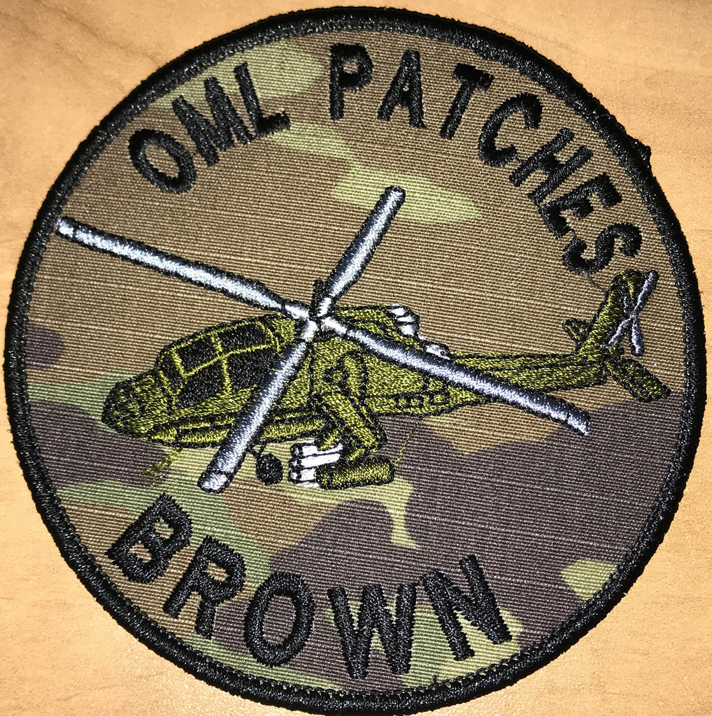 Team Patch Apache Helicopter Multicam