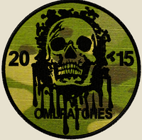 custom team morale patch blood skull on multicam tropic