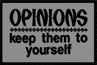 Opinions:  Keep them to yourself morale patch in grey material. #moralepatch #patches # oml