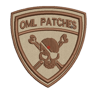 Team Template Pirate Patch in tans