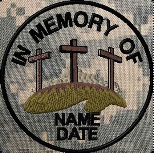 In memory of patch with crosses