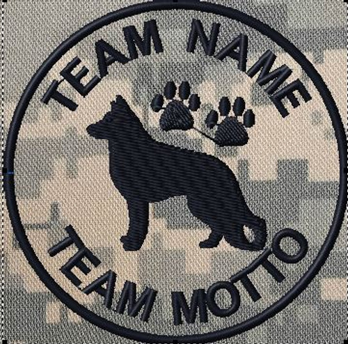 custom team patch for K9 unit