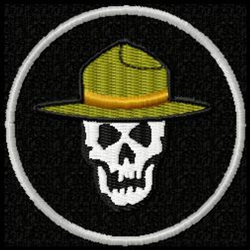 Trooper Skull Funny morale Patch