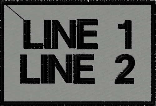 Free custom text patches in grey