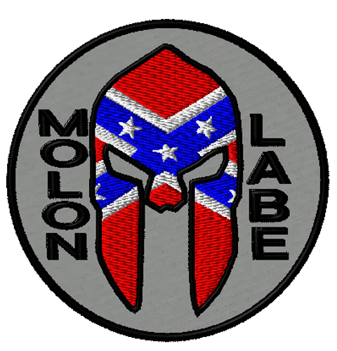 Molon Labe Rebel Morale patch in Grey