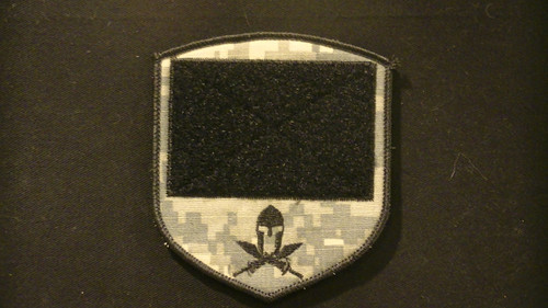 PiP Patch with loop side VELCRO® Brand and molon labe spartan logo