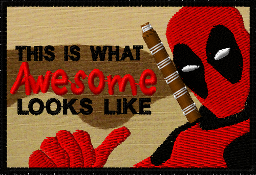 Deadpool awesome morale patch in 3cd