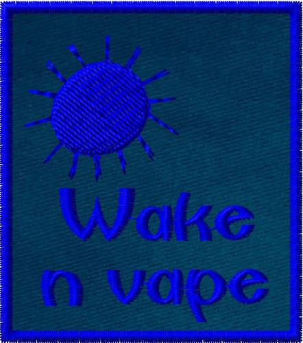 Wake and vape vaper patch