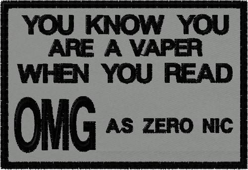 OMG is Zero Nic vaping patch
