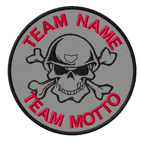 team template solider skull in grey