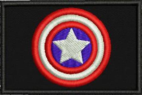 Captain America 2x3 custom patch