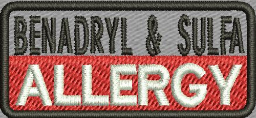 Allergy Custom Patch