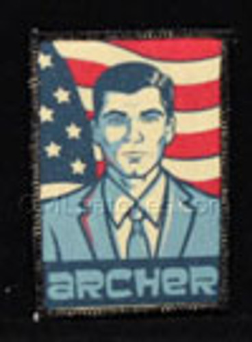 Archer 3x2 printed patch in full color