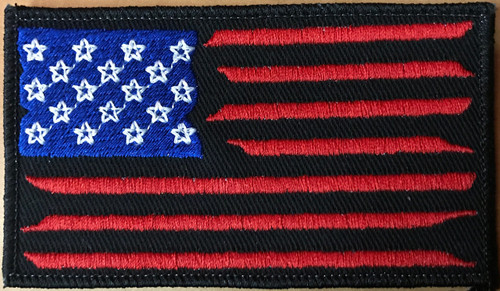 American Flag V2 Full Color Version on black custom patch