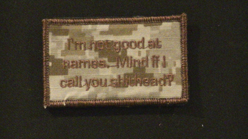 not good at names VELCRO® Brand patch