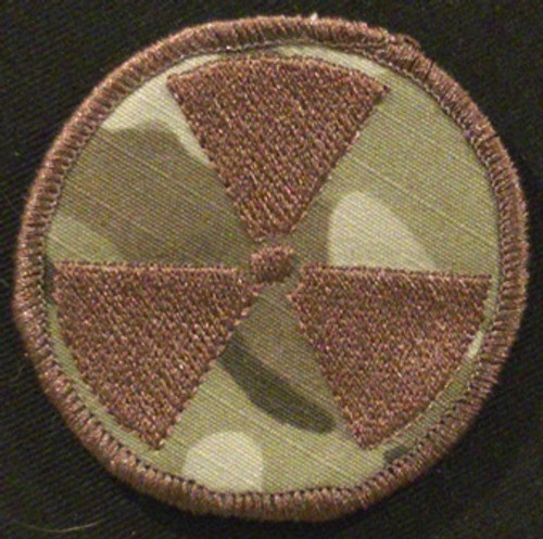radiation symbol morale patch subdued