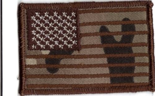 USA flag patch multicam