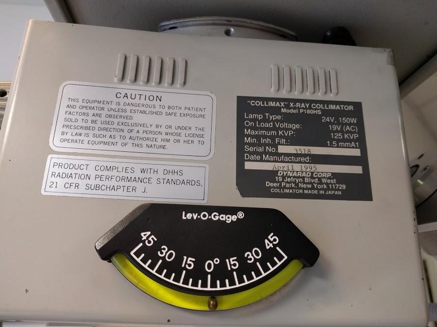 Used Dynarad Portable X Ray Equipment