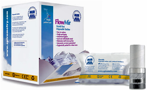MIR FlowMir Consumable Turbine with mouthpiece (50 pieces per pack)
