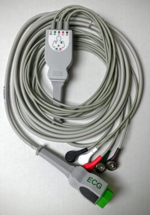 5 Lead GE Marquette EKG ECG Cable AMC&E Ref CB-725006