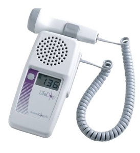 The LifeDop 250 is a convenient tabletop doppler offering excellent sound quality with its high- delity speaker. It features a large heart-rate display, rechargeable batteries, and accepts all LifeDop non-directional probes. Its enhanced features make the system more ef cient for monitoring blood  ow. Features include: • Improved ergonomics and overall appearance • Two probe holders for multiple applications • Louder audio output and user accessible batteries • Improved stand and wall mounting