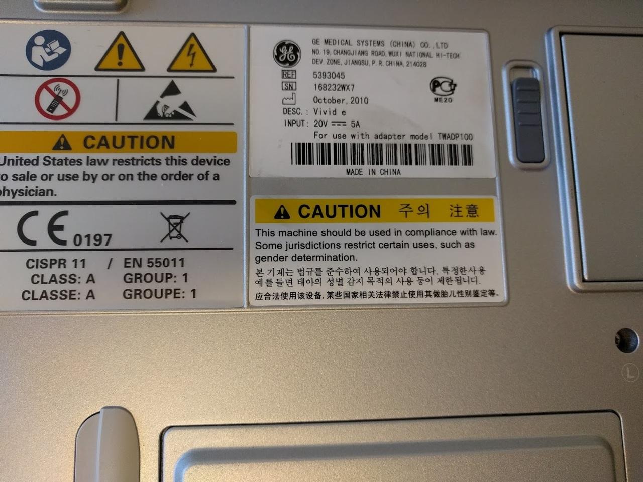 Refurbished GE Vivid E Portable Ultrasound