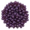 Purple Velvet 4mm Glass Round Pearls