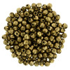 2mm Bronze Fire Polish Beads - 50pk