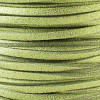 1.5mm thick 2mm wide peridot glitter microsuede cord